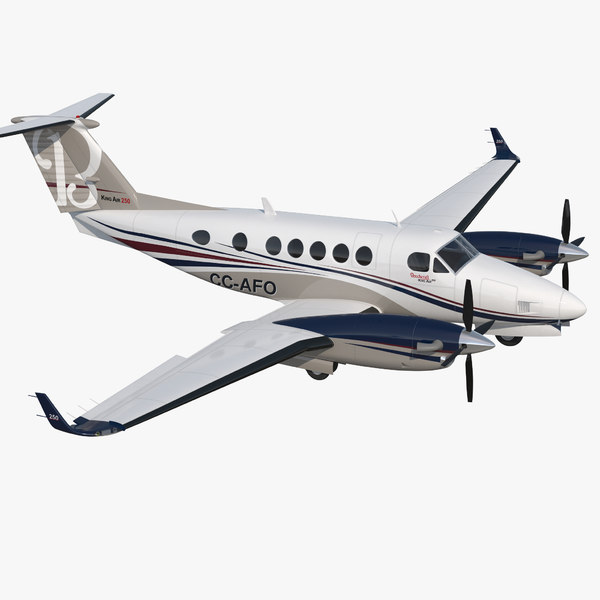 3D model civil utility aircraft beechcraft