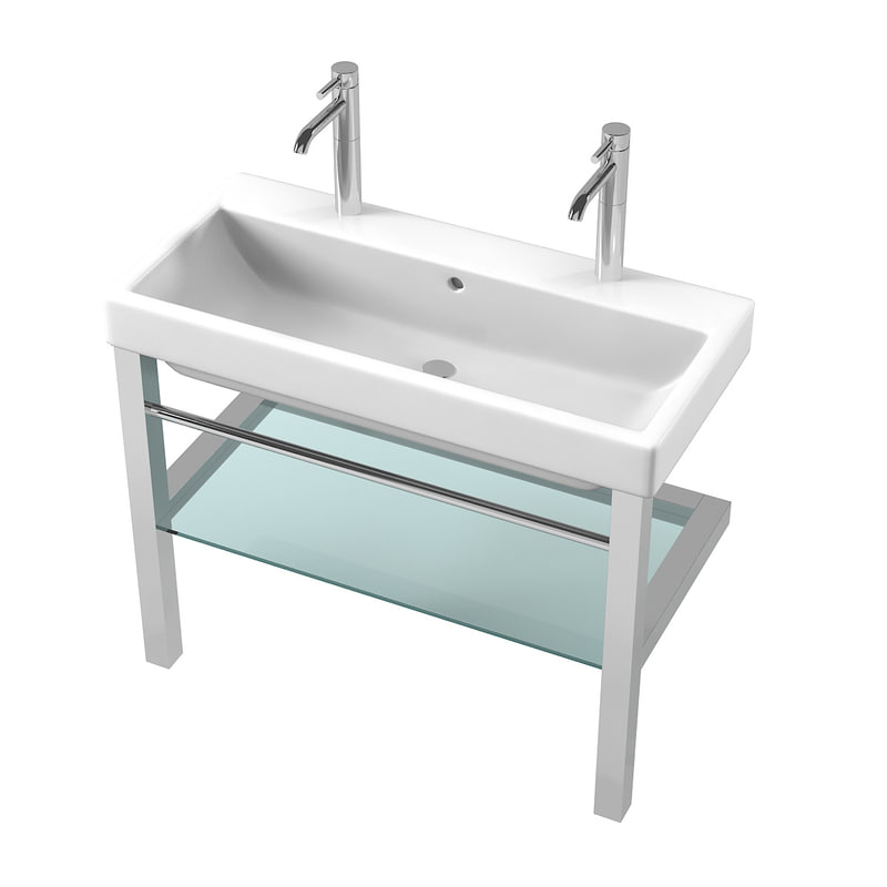 wide kitchen sink 3d wide bathroom sink turbosquid 1189400 1102