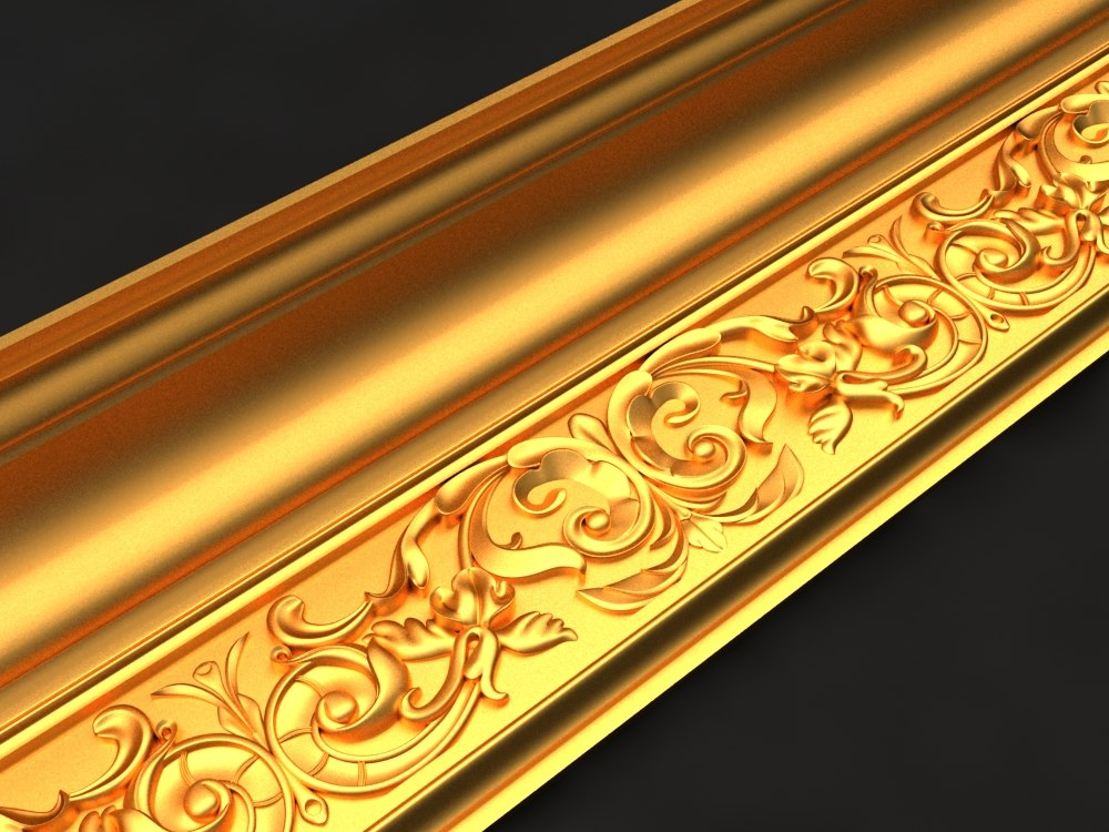 cornice mold decor 3D model