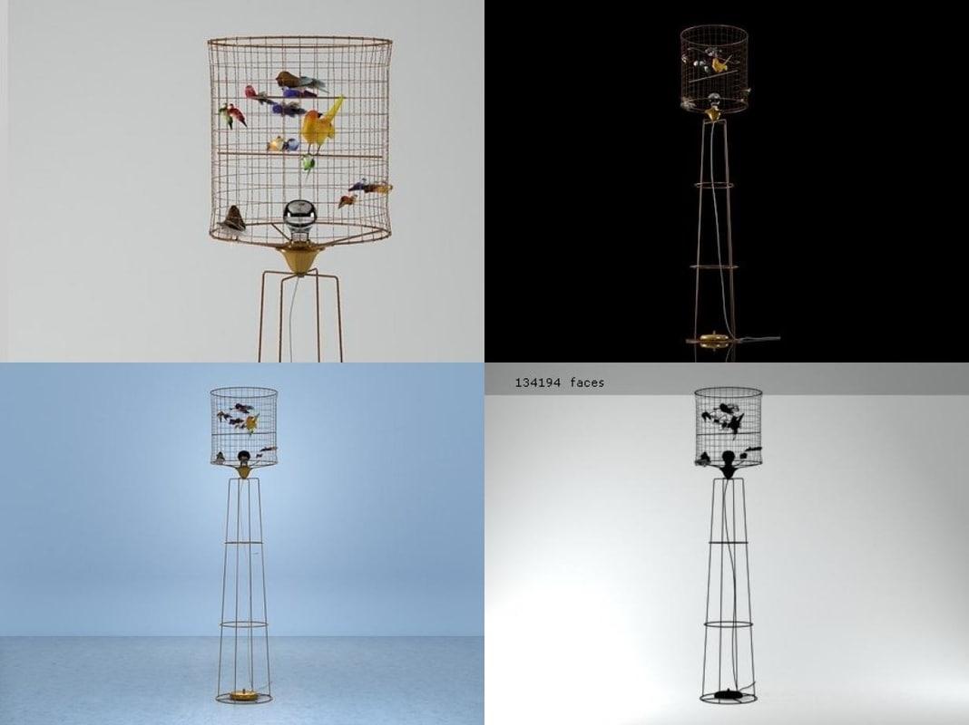 3D la voliere bird model