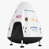 spacex dragon v2 3D