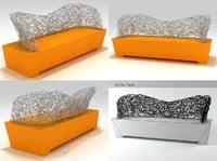 3D sculpture socle bench sosb198
