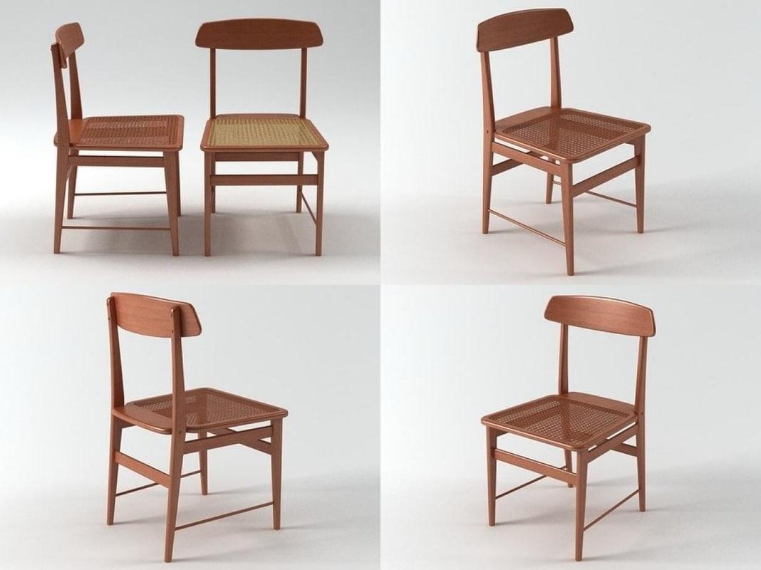 3D lucio chair 1956