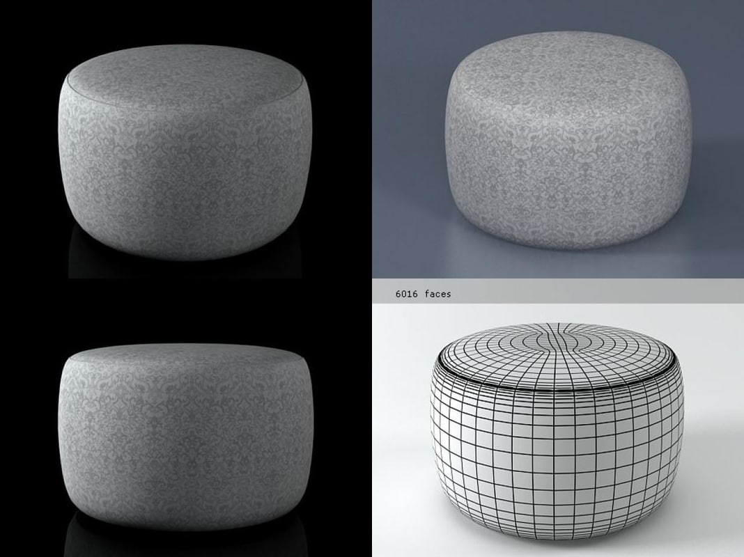 3D boutique pouf
