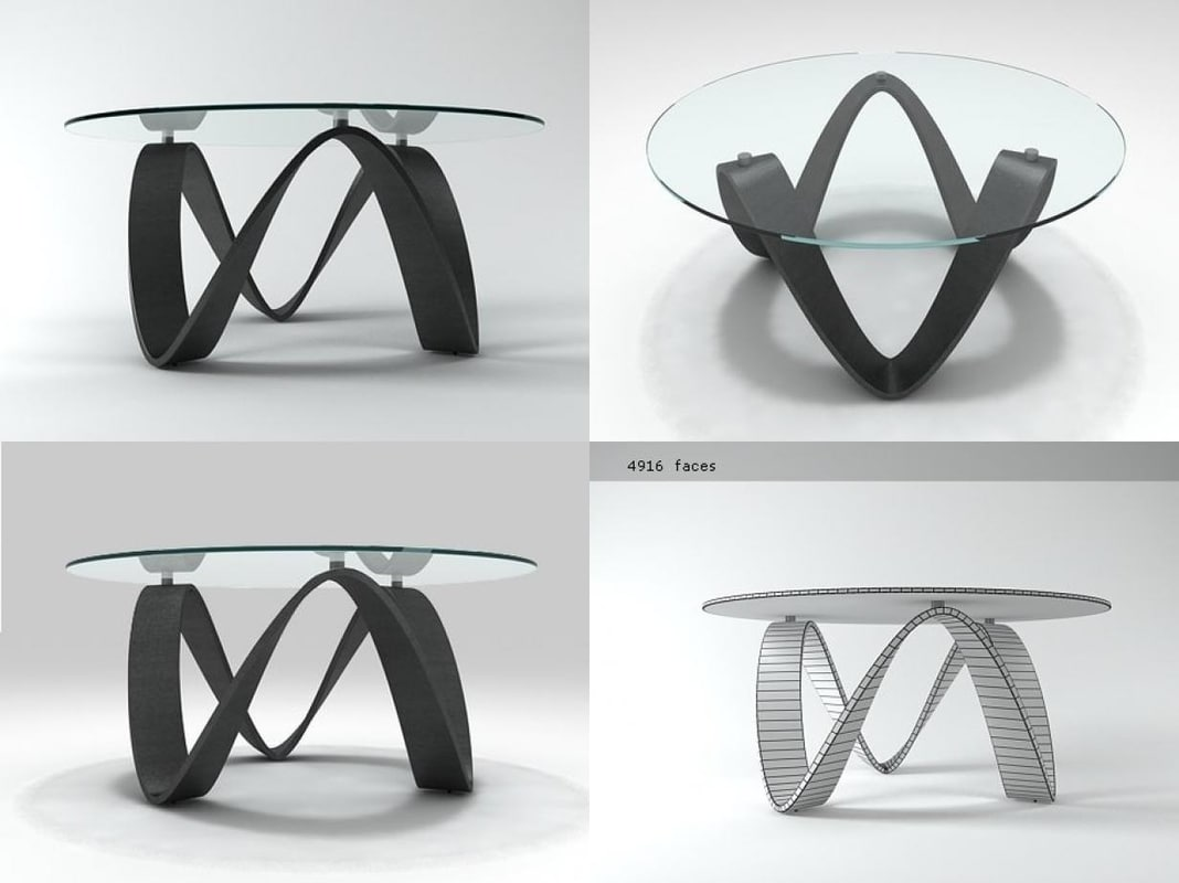 sumo dining table 3D model