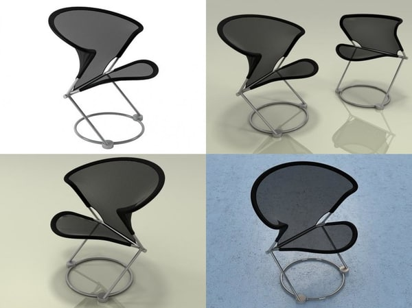 nuvola chair 811-1 3D model