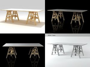 leonardo work table 2650 3D model