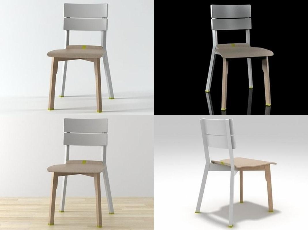 rotterdam chair vitra 3D model