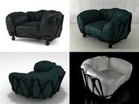 3D model corbeille armchair