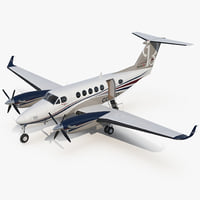 Civil Utility Aircraft Beechcraft Super King Air 250EP 3D Model