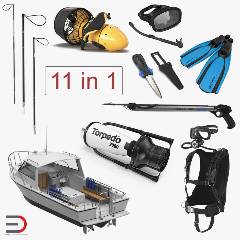 3D diving equipment