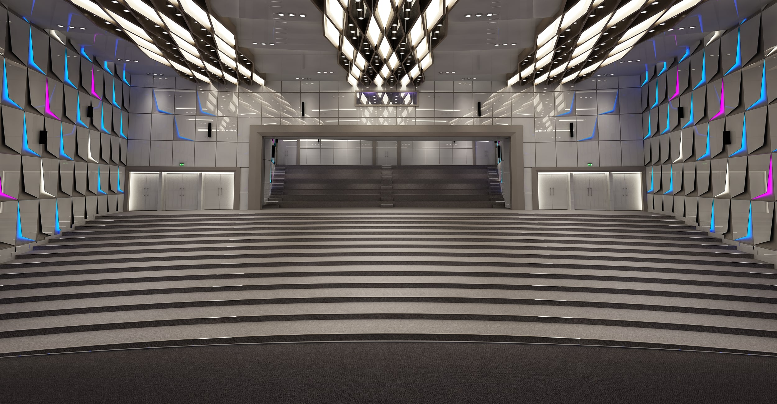 theater conference hall 3D model