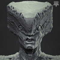 3D highpoly creature bust model