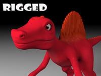cartoon spinosaurus 3D