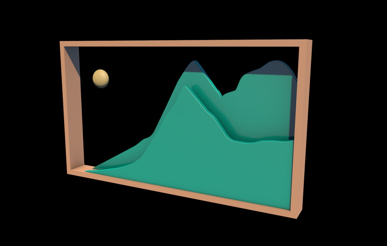 3D picture frame icon model