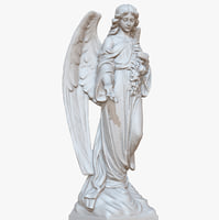 3D model sculpture angel 1m raw