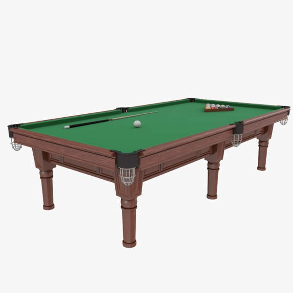billiard games realistic model