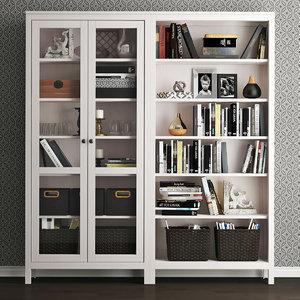 decor storage combination hemnes 3D model