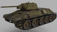 3D sovet tank t-34
