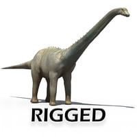 animate rigged diplodocus 3D model