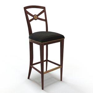 3D barstool interior bar stool