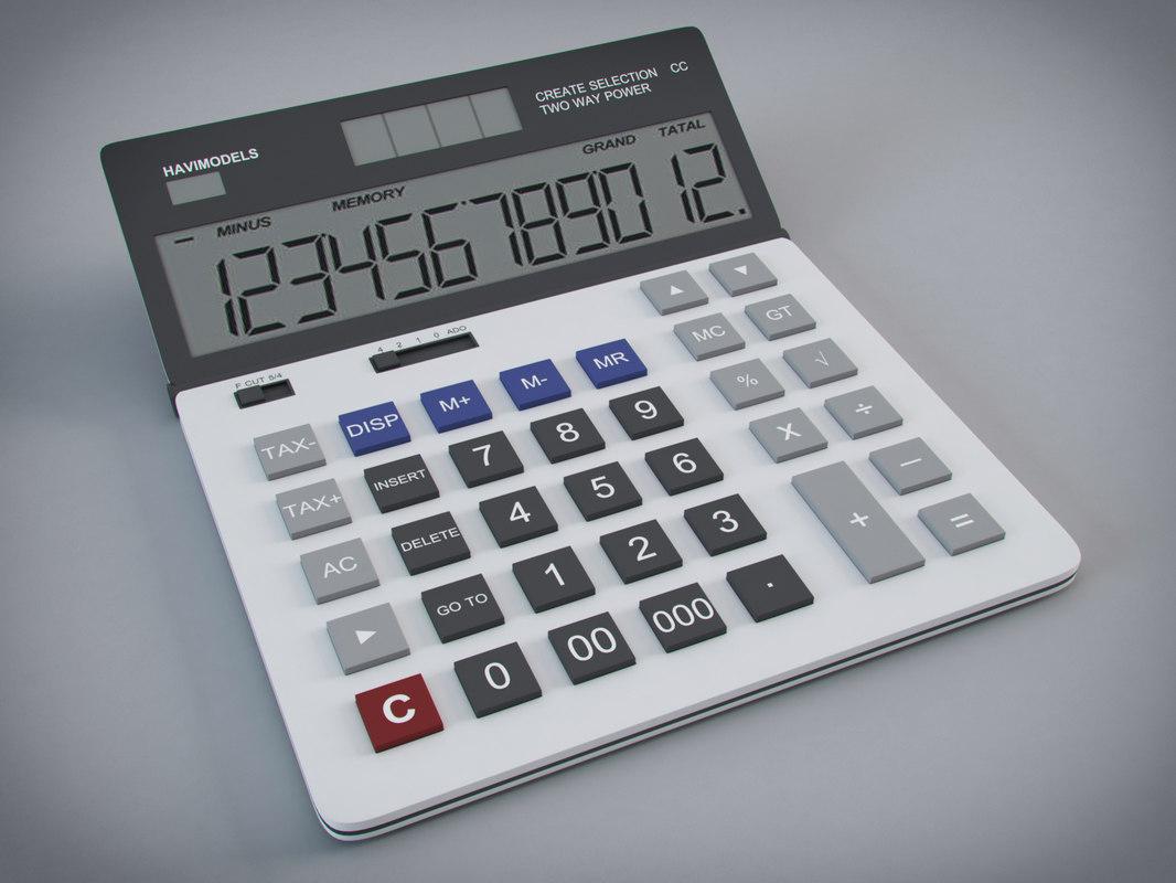 3D calculator digital