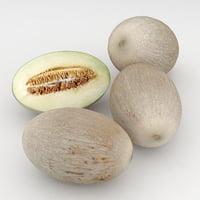 3D melon honeydew