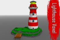 Voxel Lighthouse low-poly