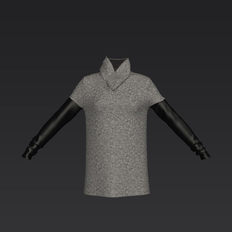sleeved sweater leather 3D model