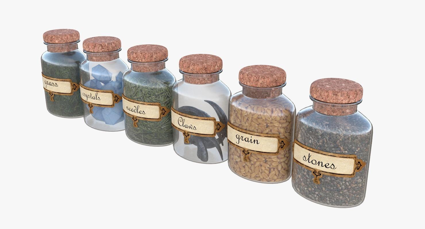 magic jars 3D model