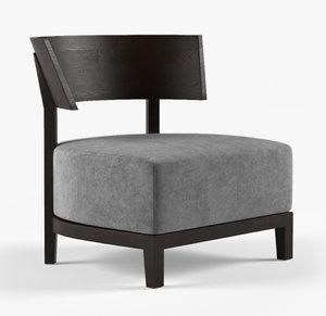 3D thomas flexform armchair model