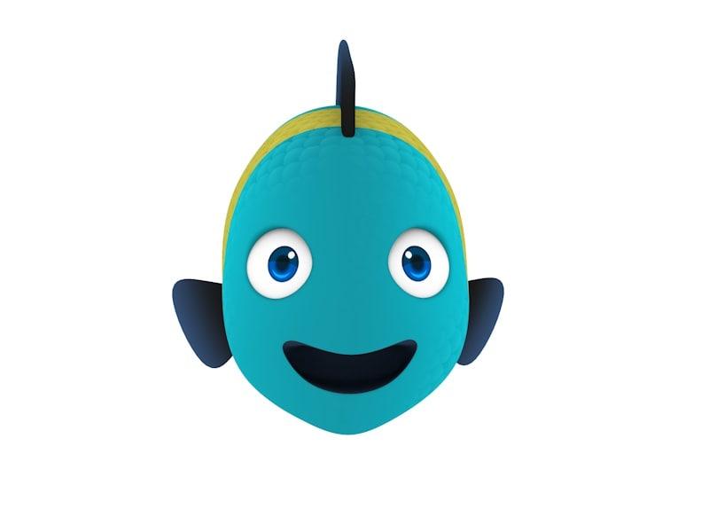 cartoon fish model