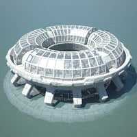 3D ocean dome city