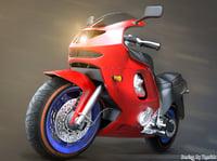 f1 bike 3D model