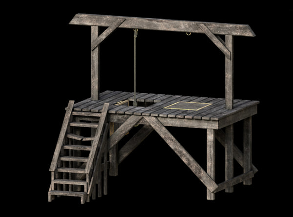 gallows aged 3D model