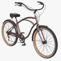 Realistic Cruiser Beach Bicycle  Electra 7d