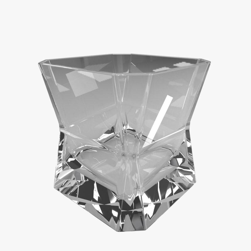 whiskey glass 3D
