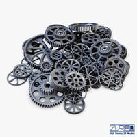 pile scattered gears v 3D model