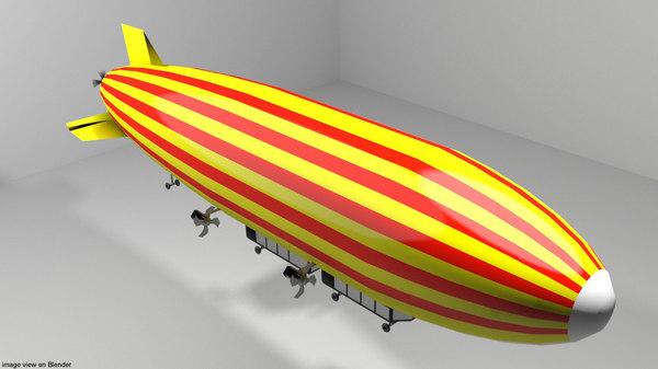 3D commercial zeppelin