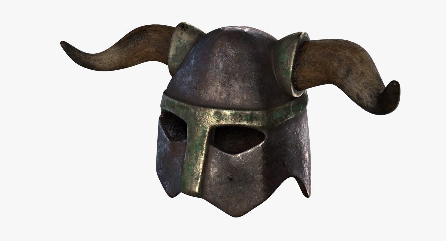 3D model medieval helmet