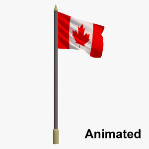 3D flag canada - animation model