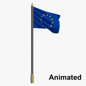 flag europe - european 3D