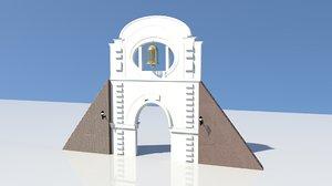3D model bell tower