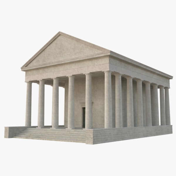 greek temple 2 3D