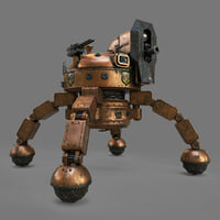steampunk mech model