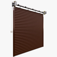 Industrial animated rolling garage door/sutter
