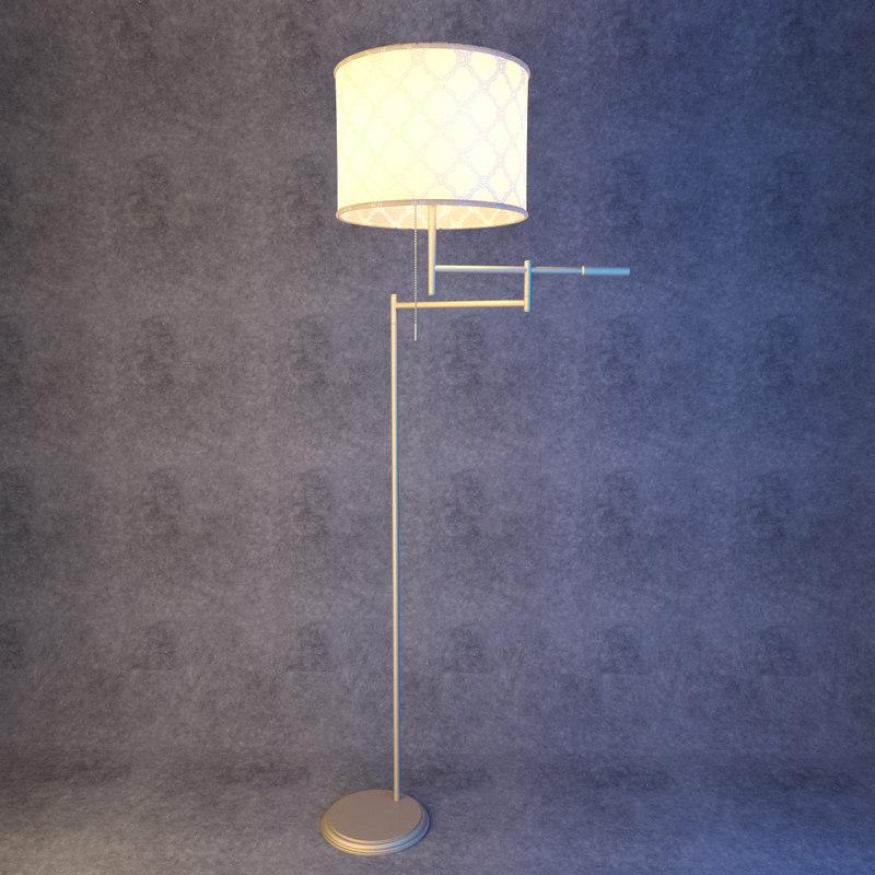 3D floor lamp bronze lights