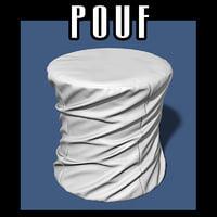 3D pouf interiors