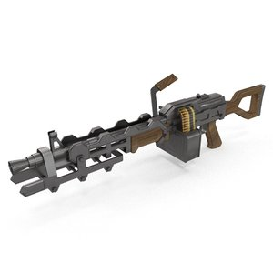 heavy machine gun 3D model