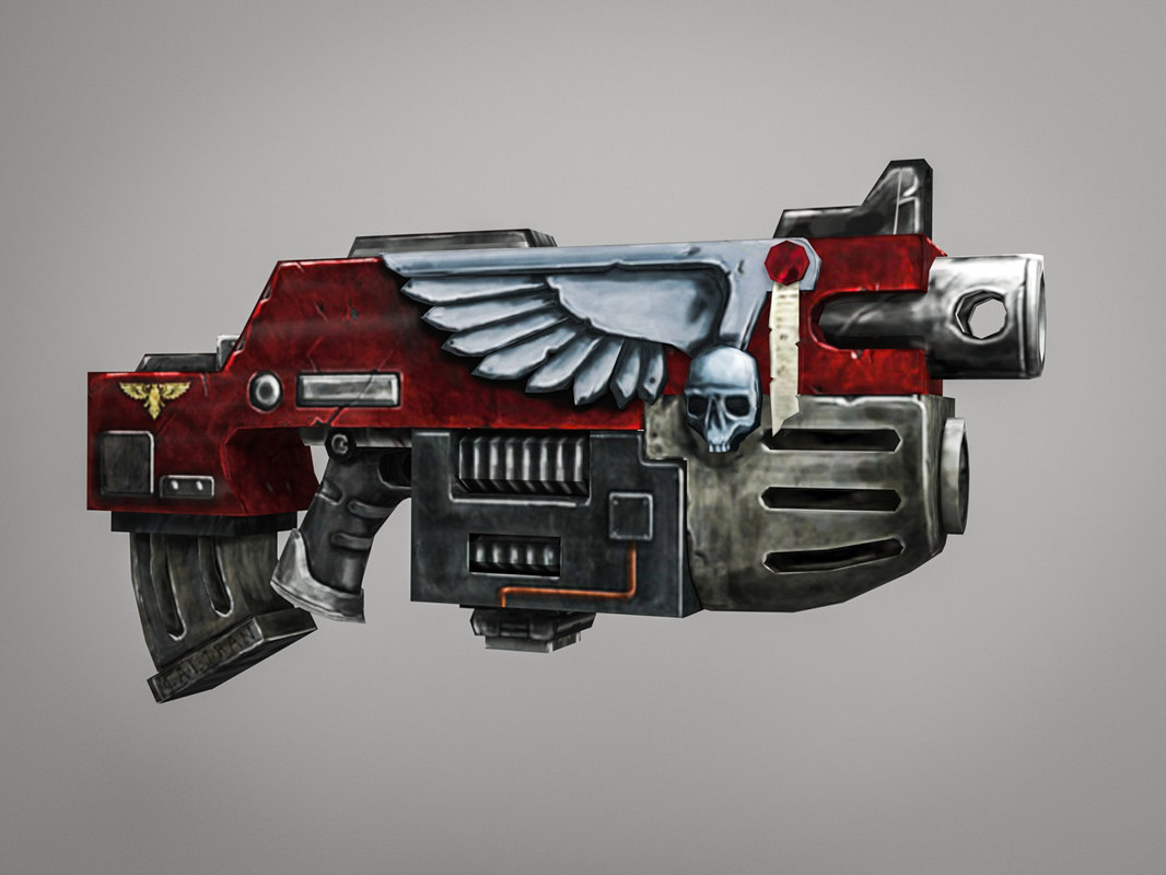 bolter weapon 3D model